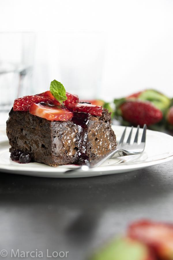 Brownie mud aux fraises